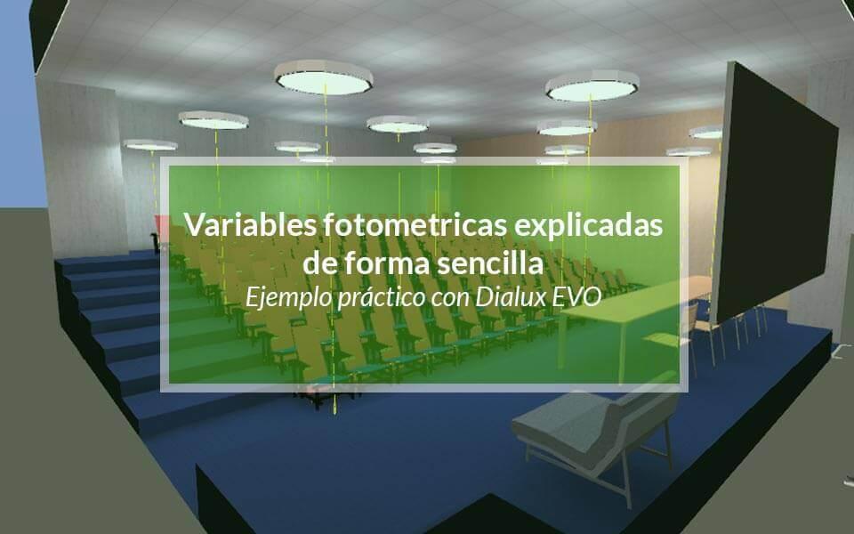 Calculo de variables fotométricas: