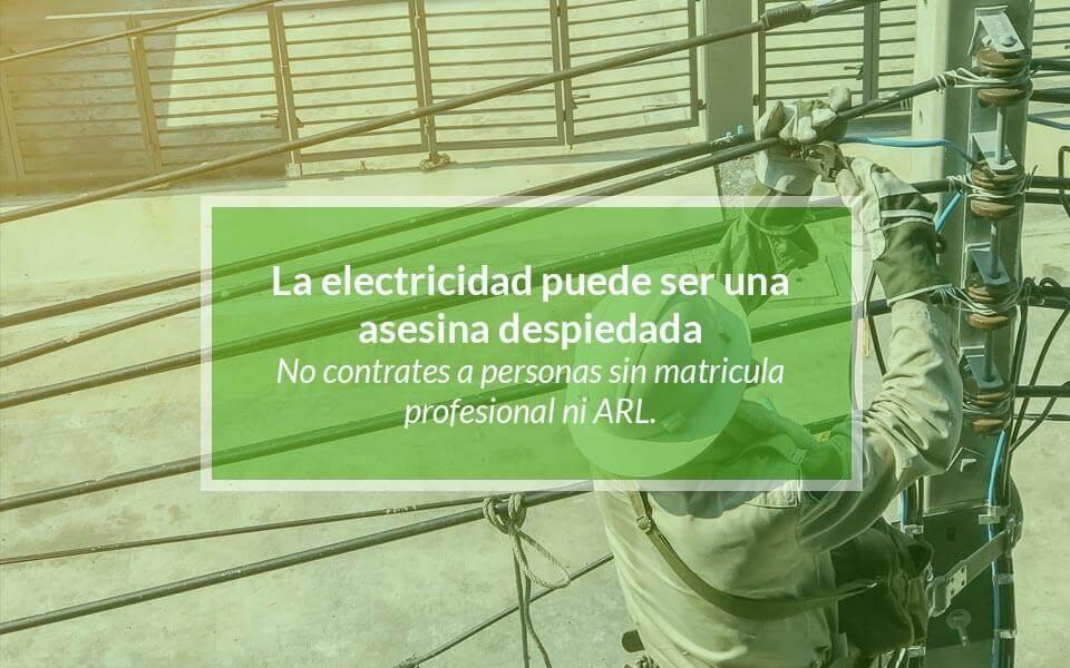 ¿Cómo saber si un electricista está matriculado?